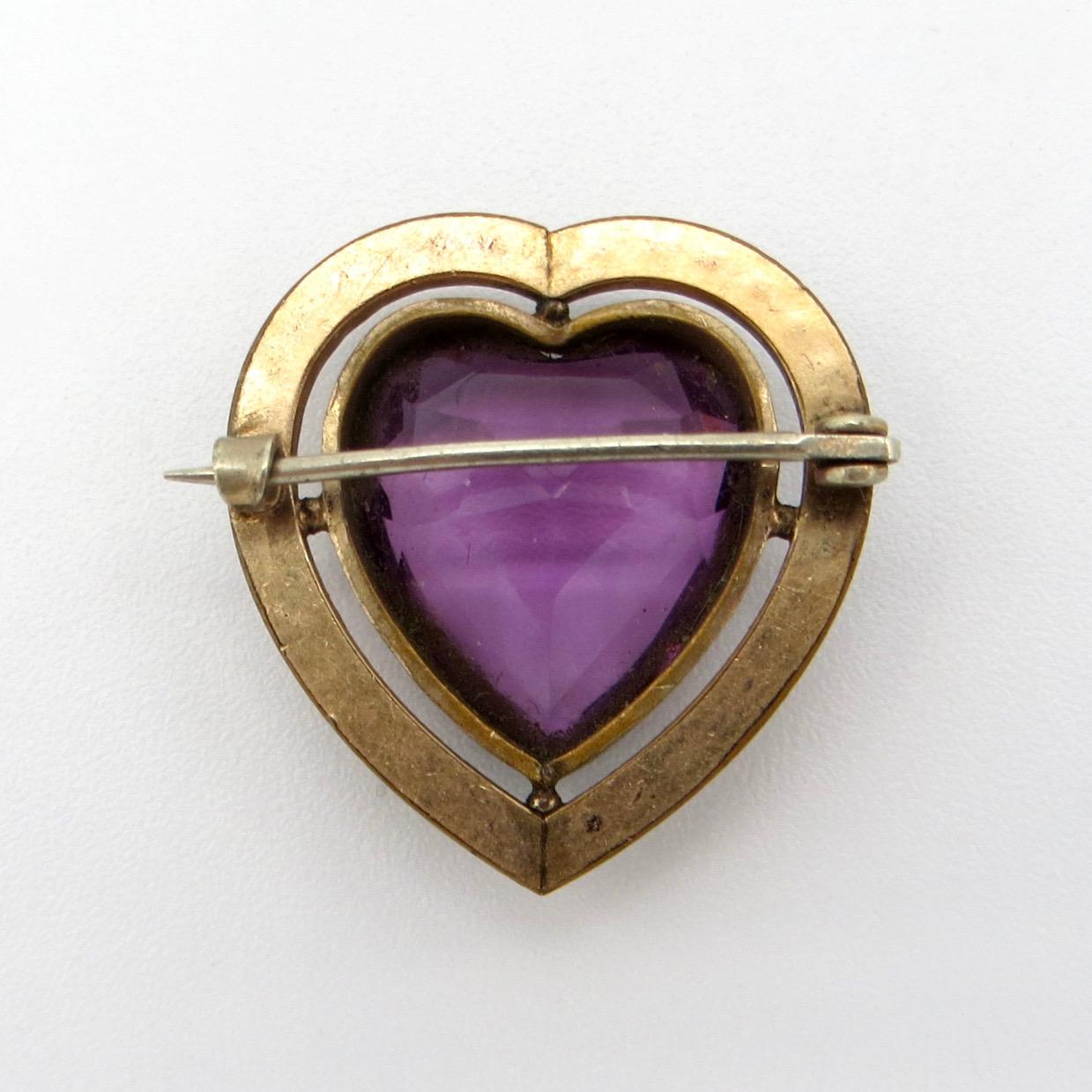 Victorian Heart Brooch