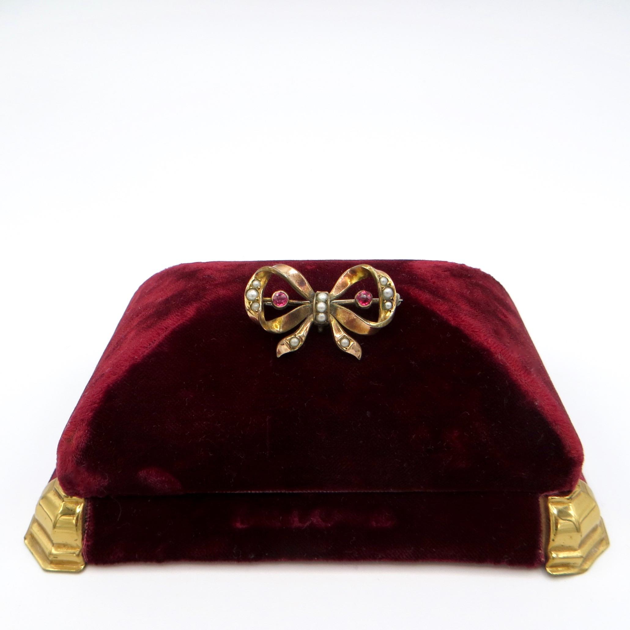 Victorian Bow Brooch