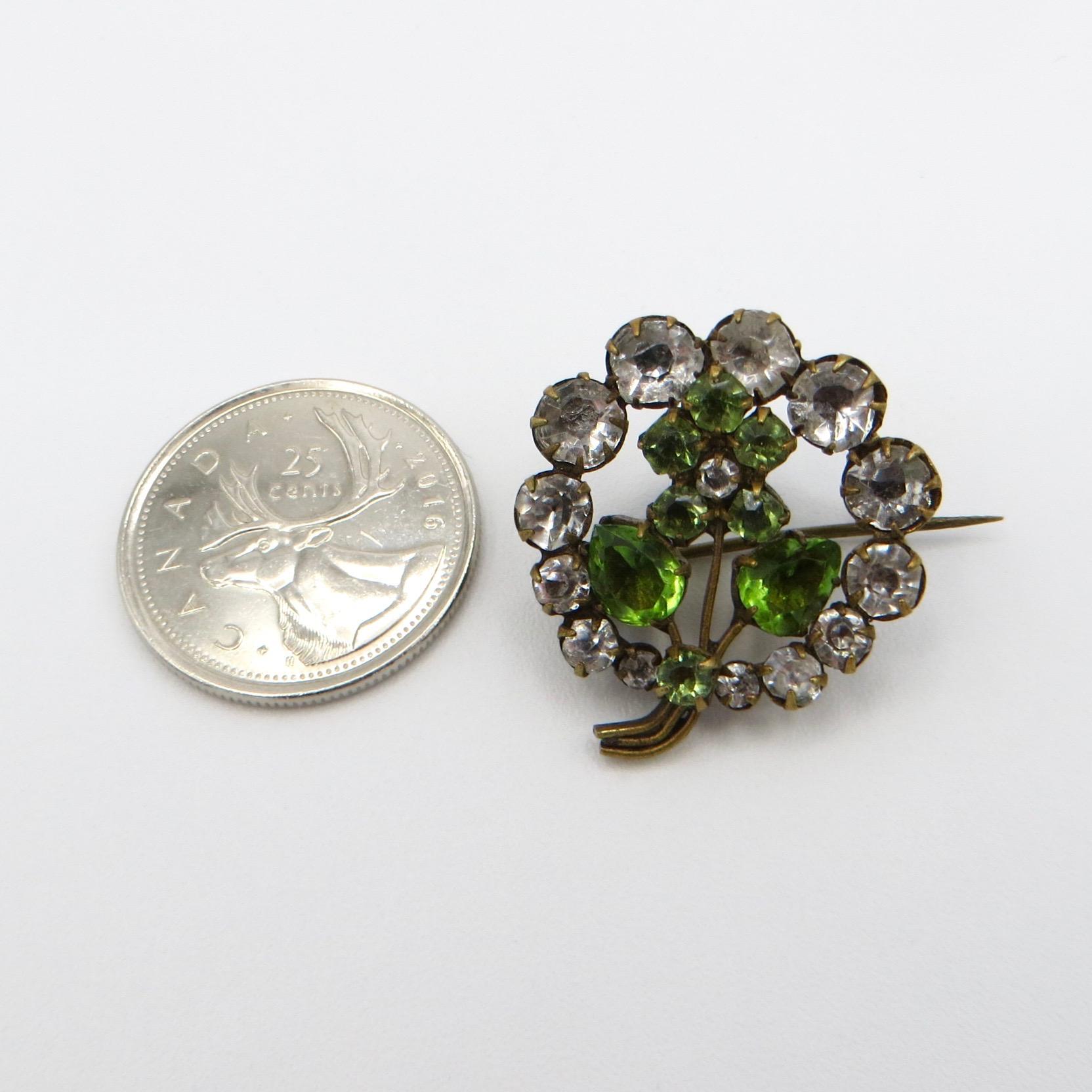 Edwardian Flower Brooch (Paste)