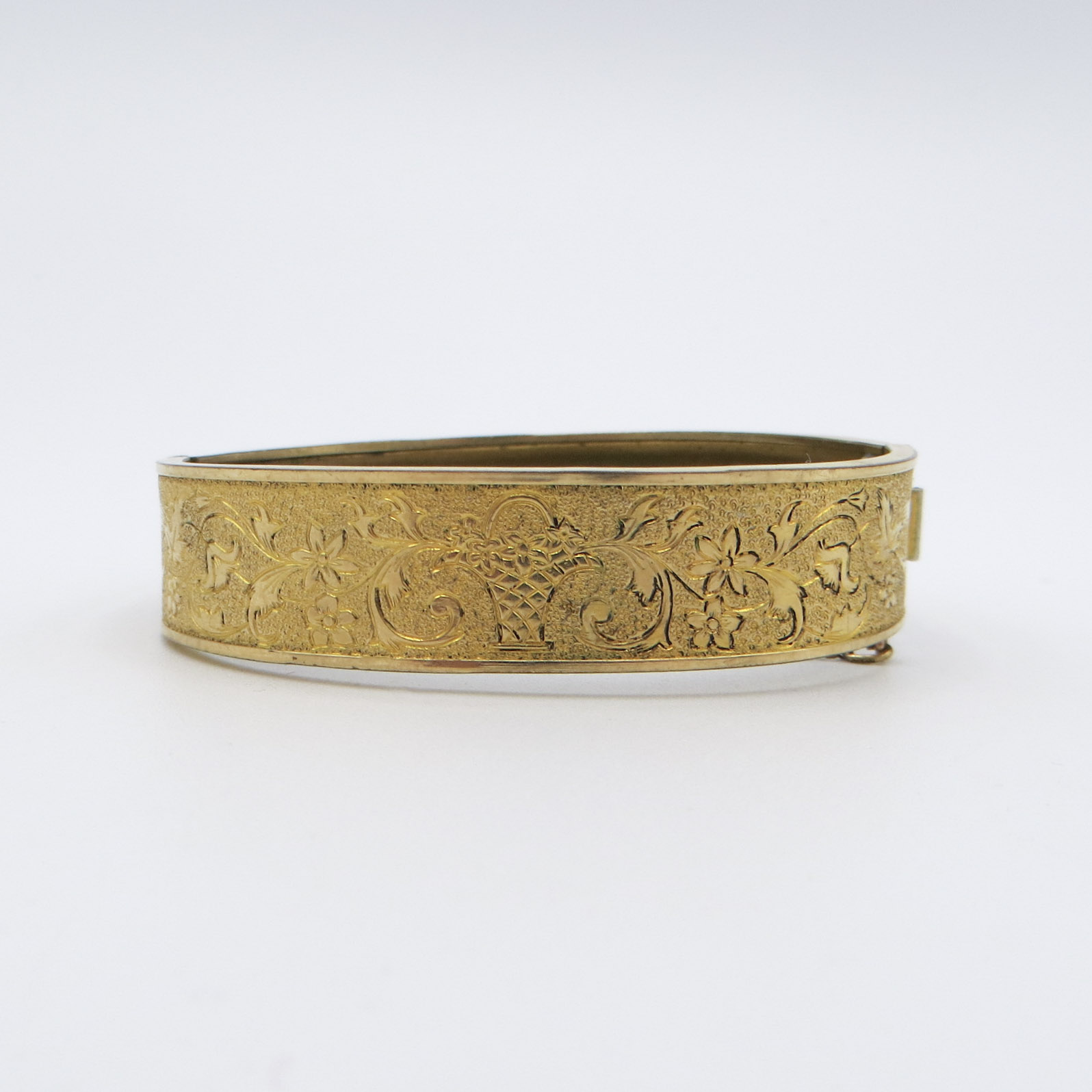 Gold-Filled Flower Basket Bracelet
