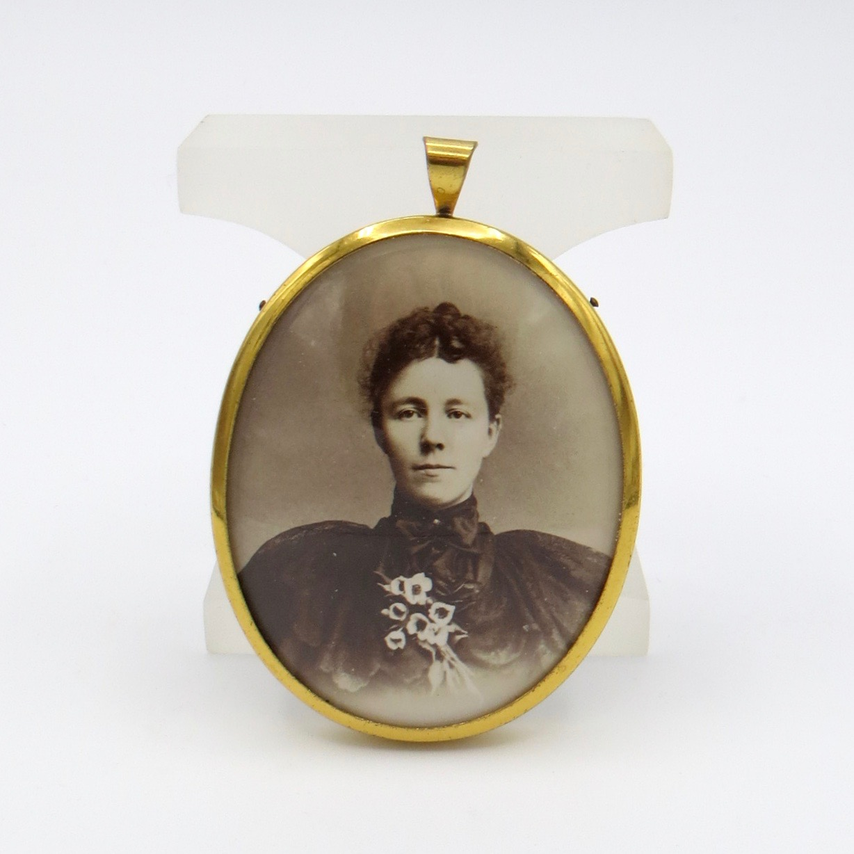 Vintage Photo Pendant in a Gold-Filled Frame