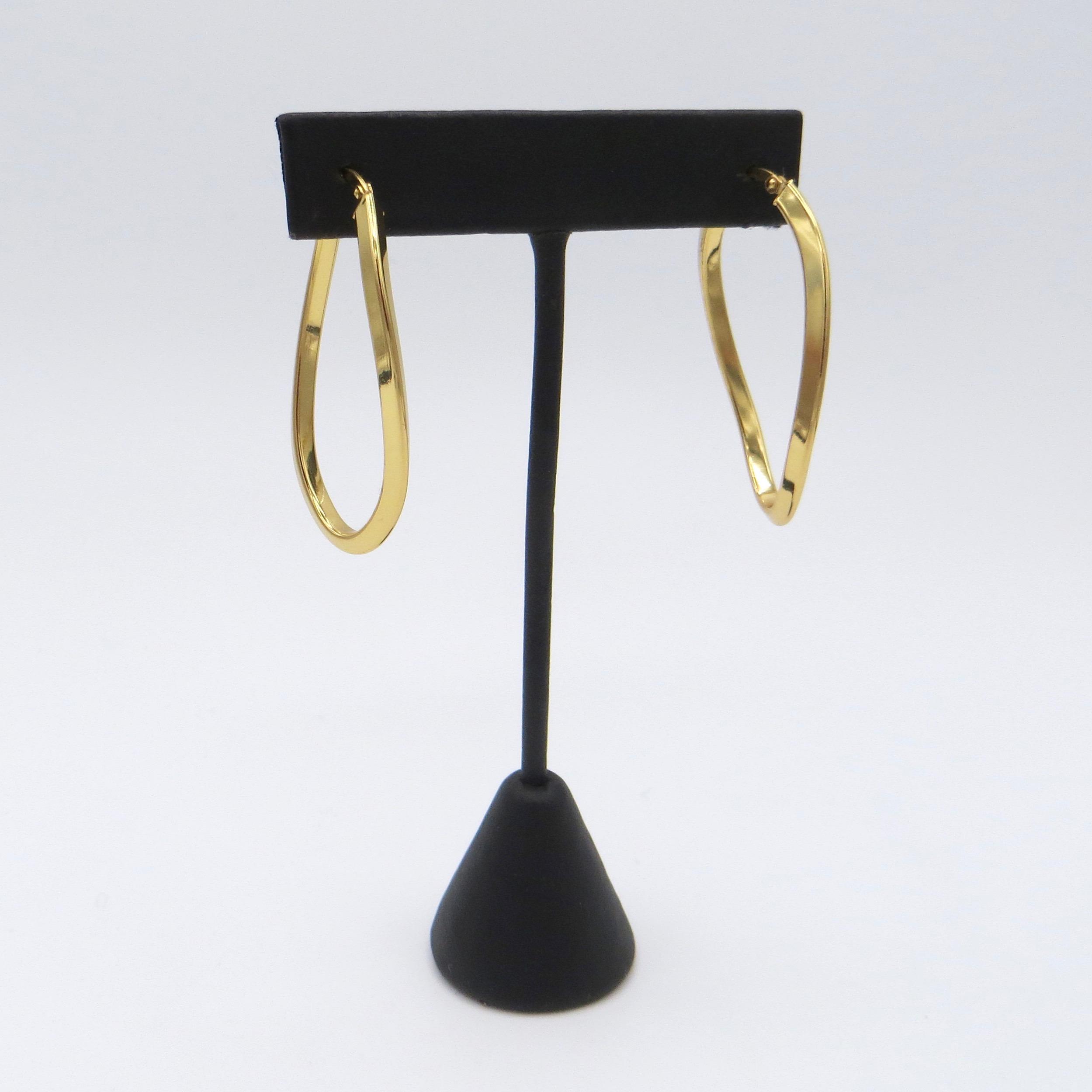 Sterling Gilt Twist Hoop Earrings