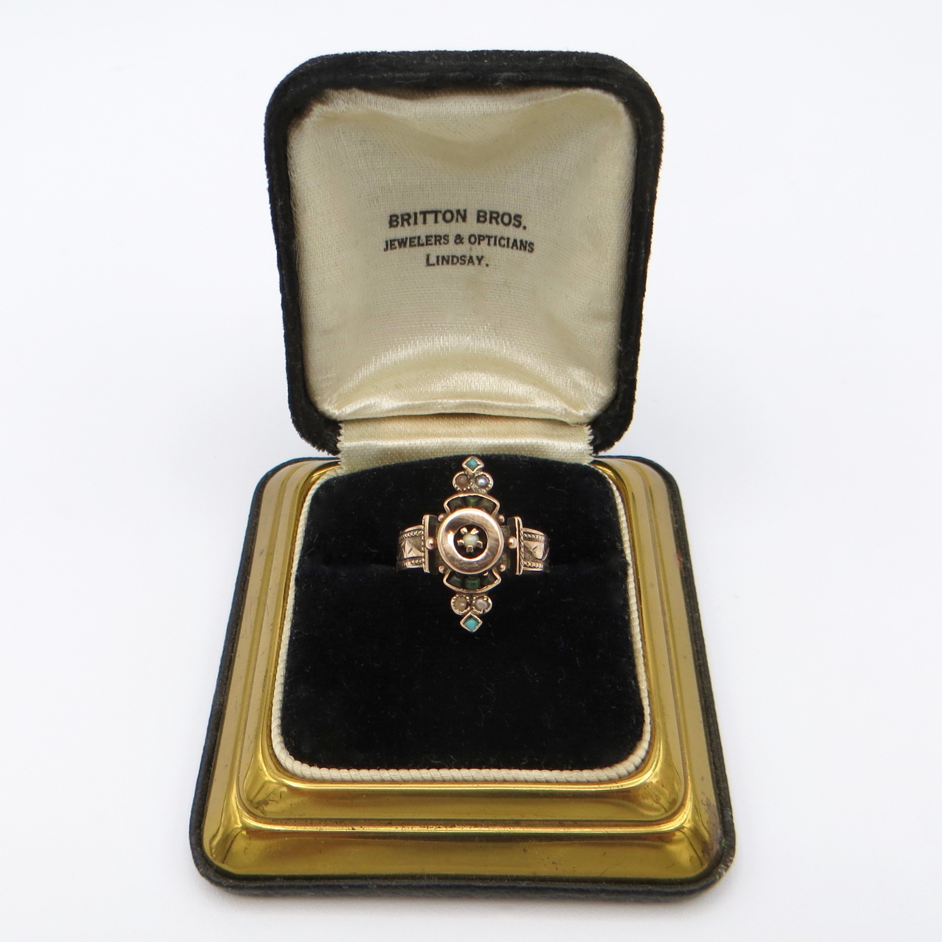 Victorian 9ct Gold & Pearl Ring