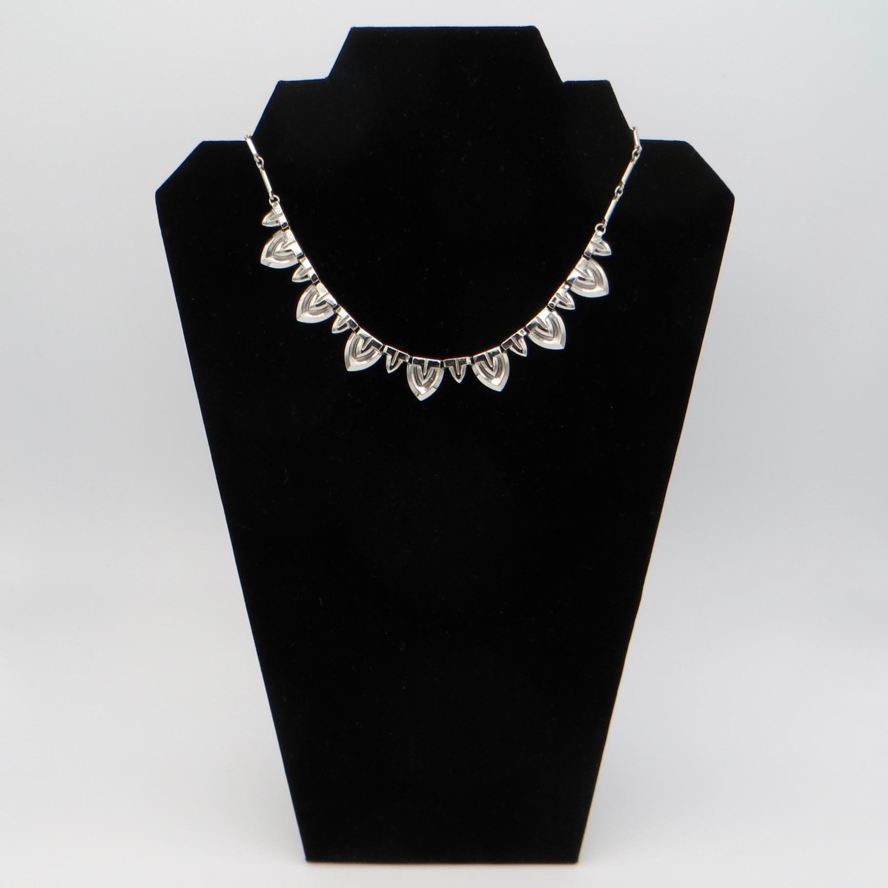 1940s Chrome Necklace