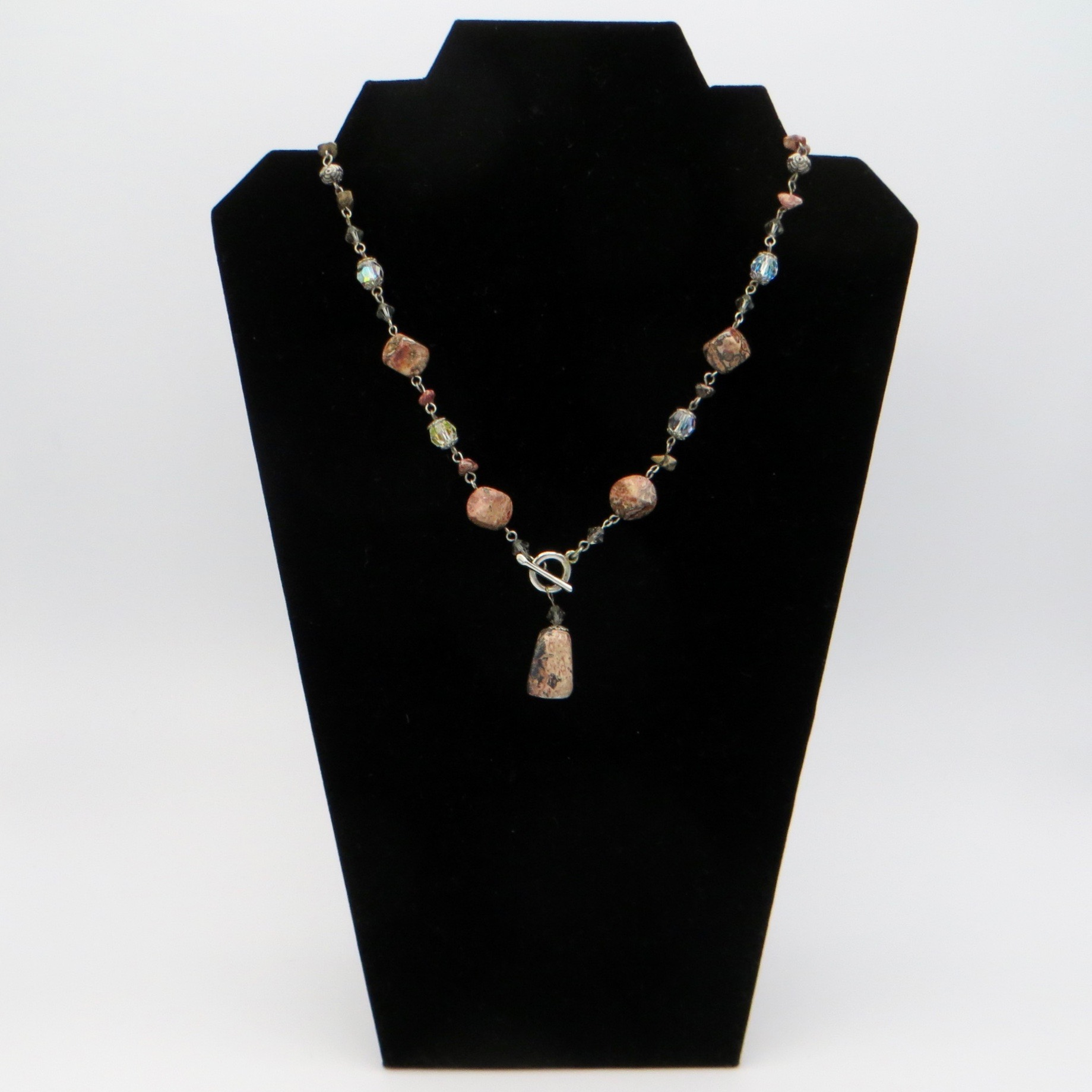 Artisan Agate & Crystal Necklace