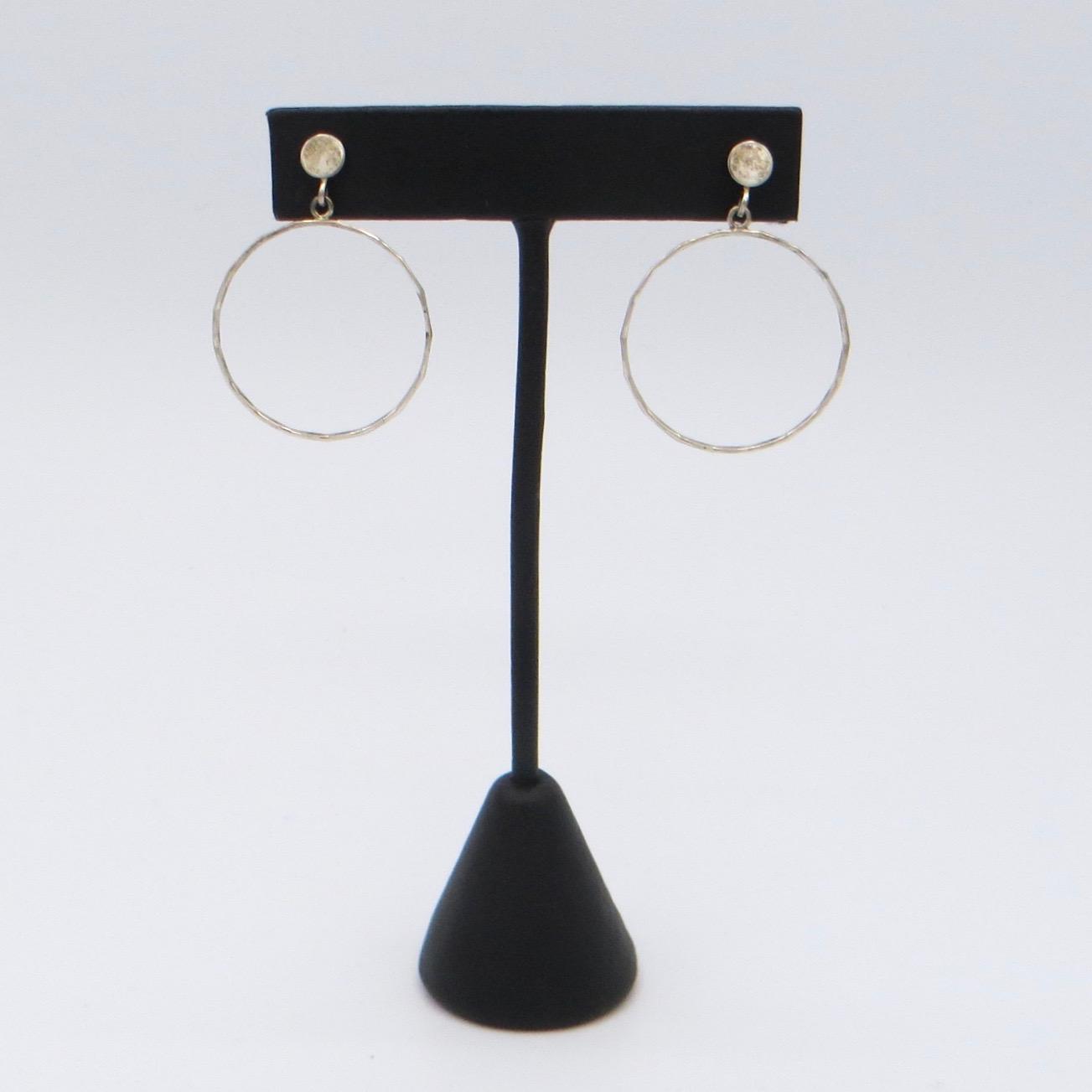 Vintage Sterling Silver Hoop Earrings (Small)