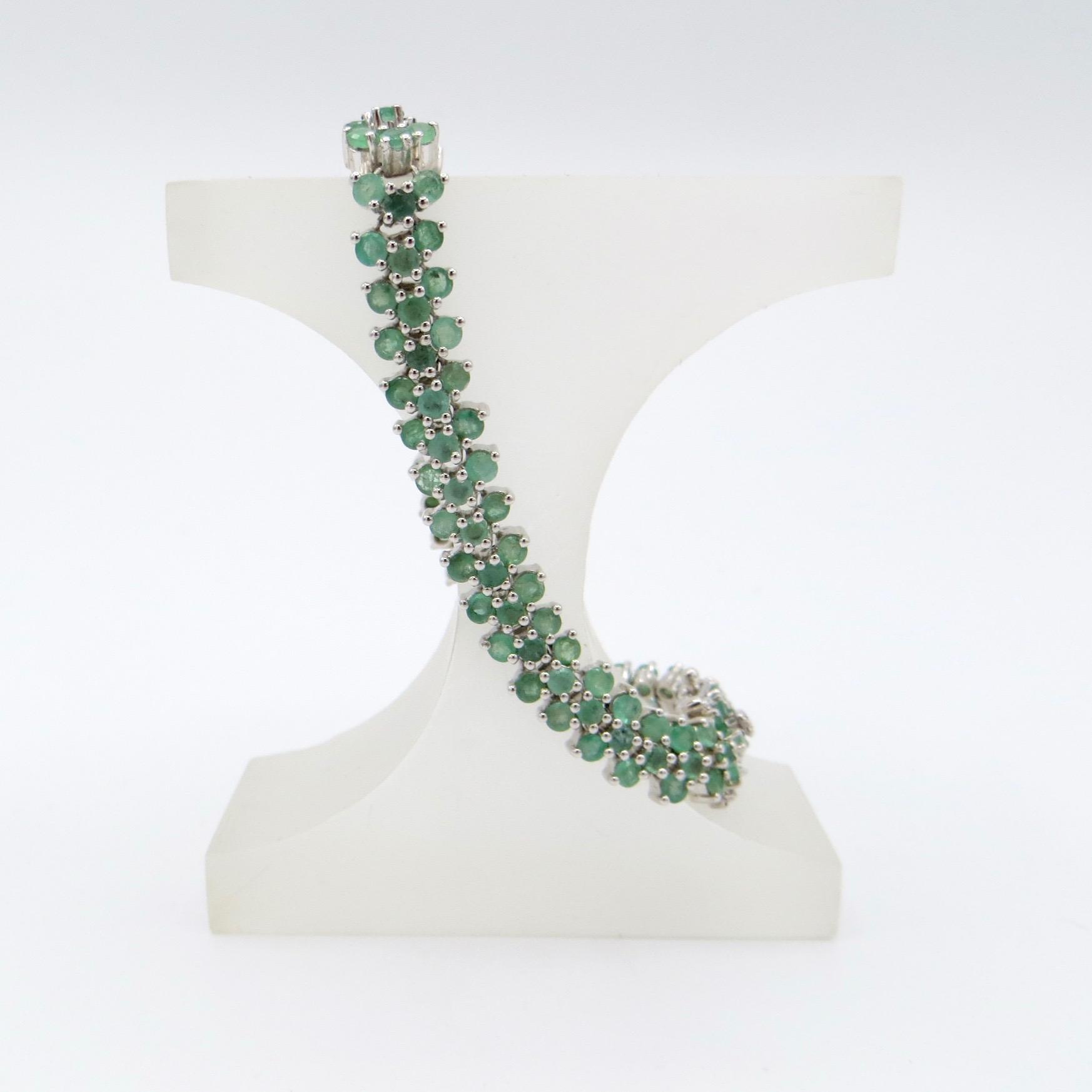 Silver & Emerald Bracelet