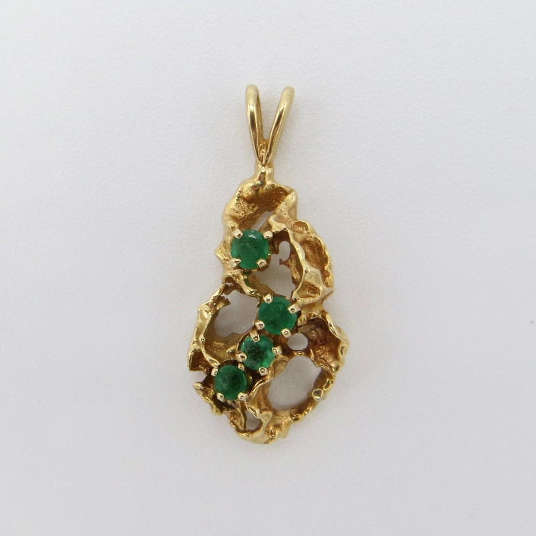 14kt Gold & Emerald Pendant