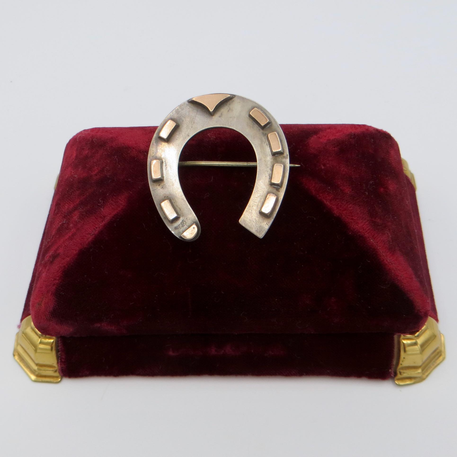 Victorian Horseshoe Brooch