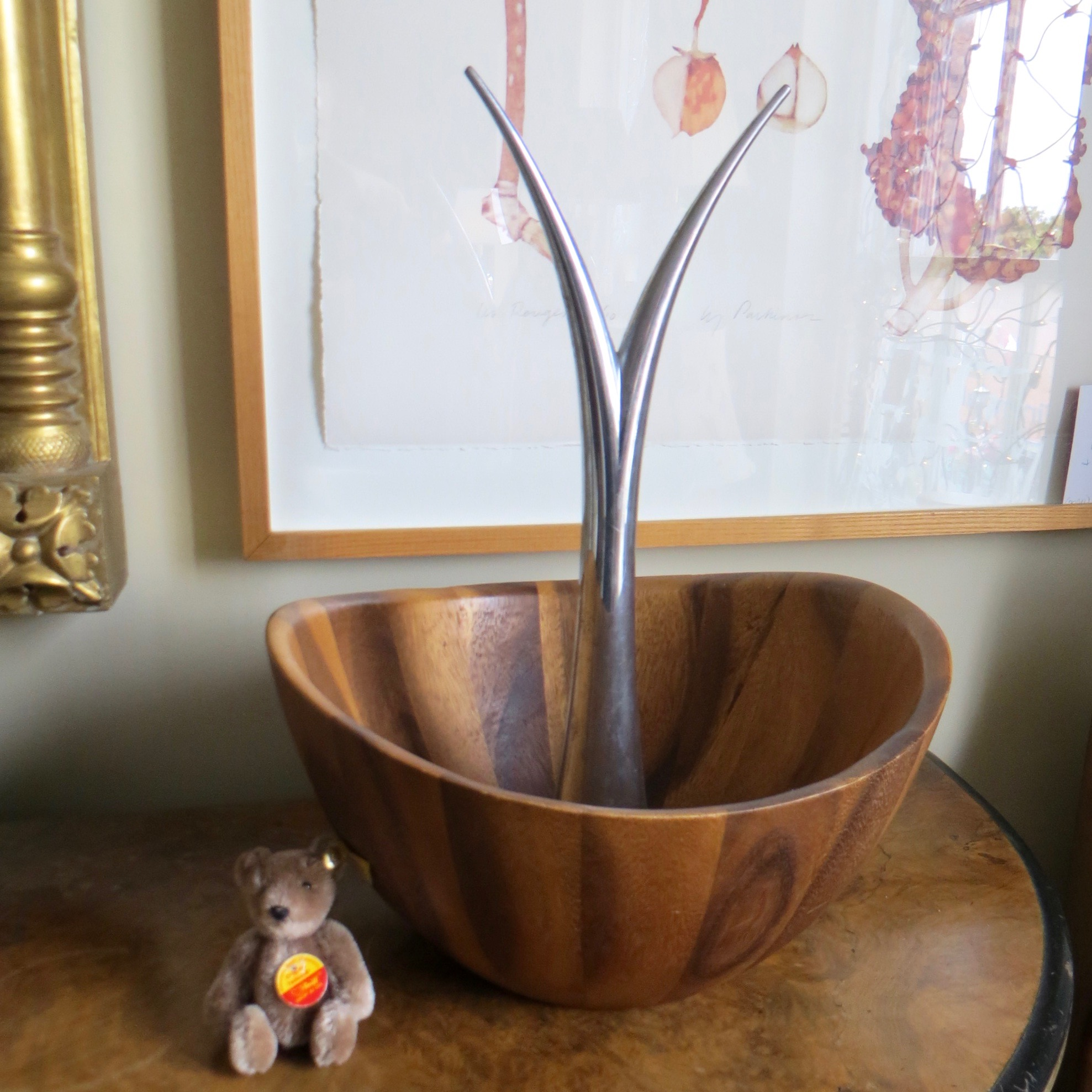 Wood & Metal Bowl
