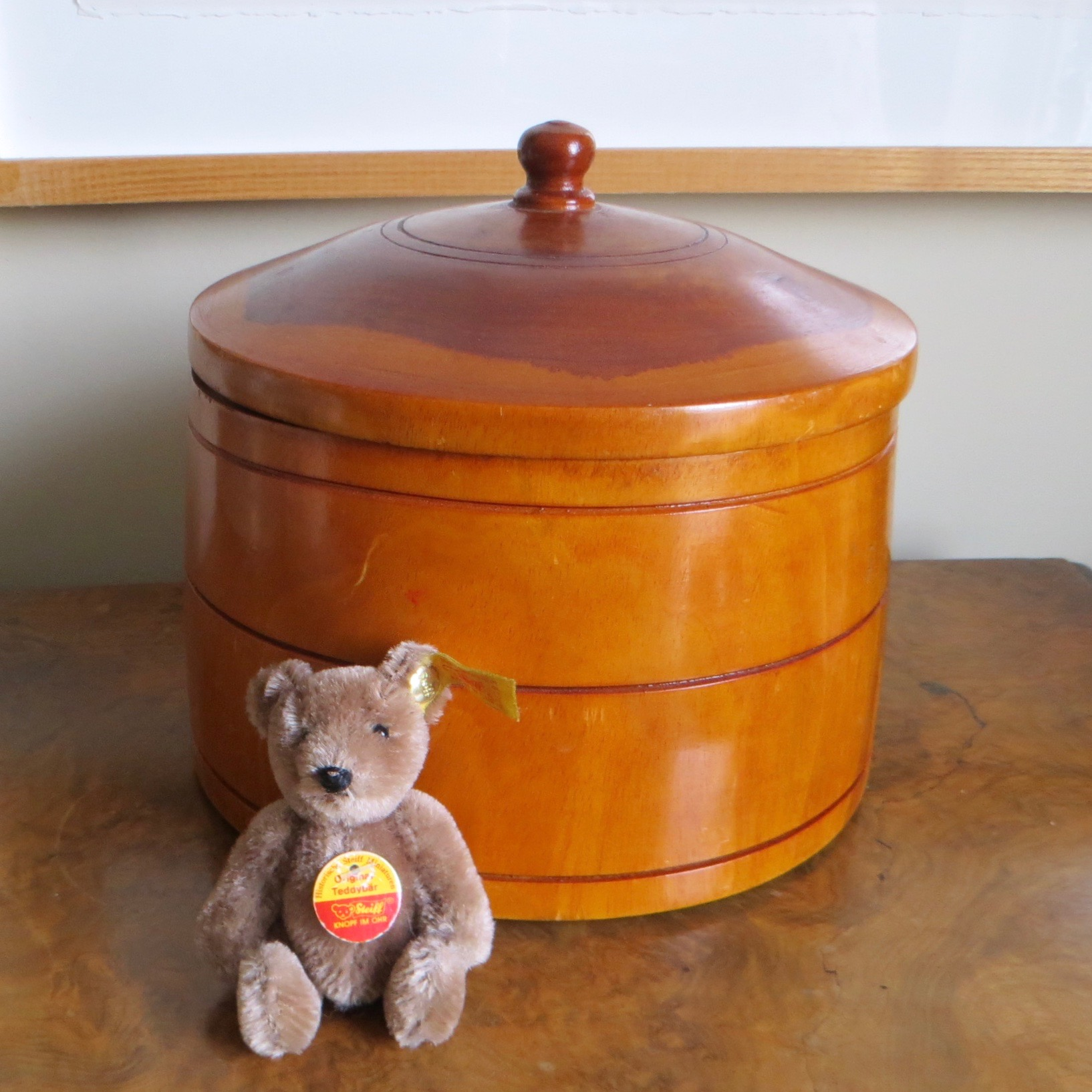Turned Wood Container with Lid