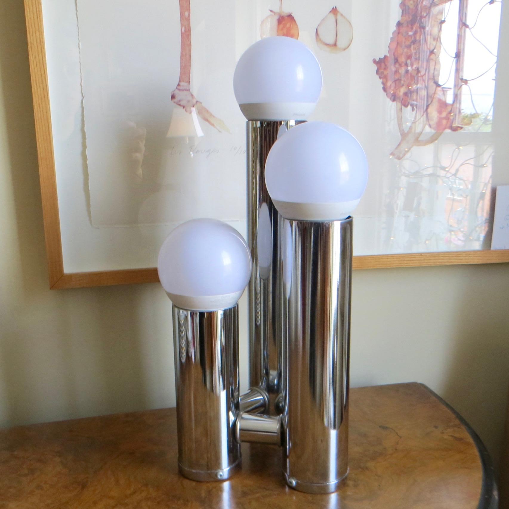 Retro Chrome Lamp