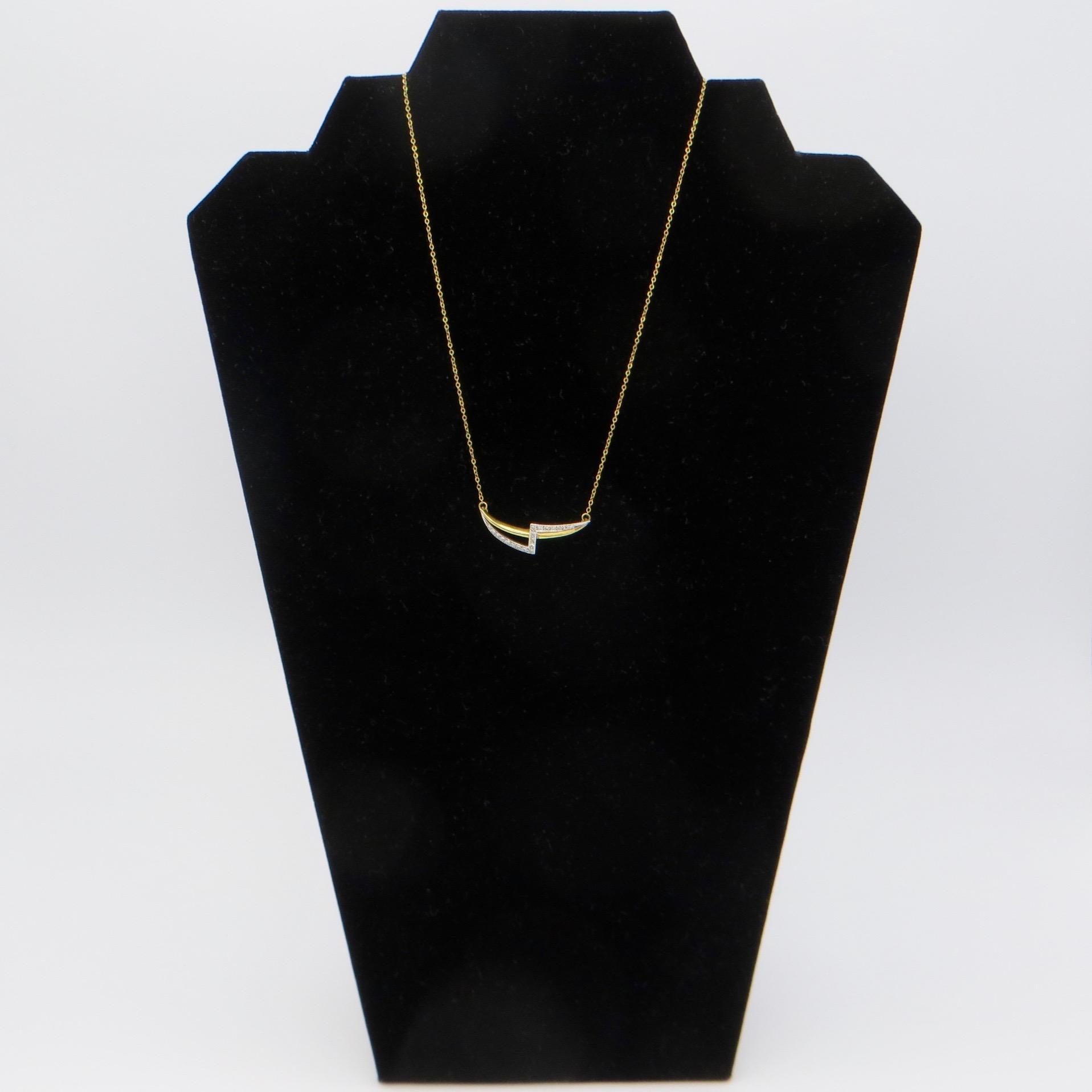 Diamond Lightning Bolt Necklace