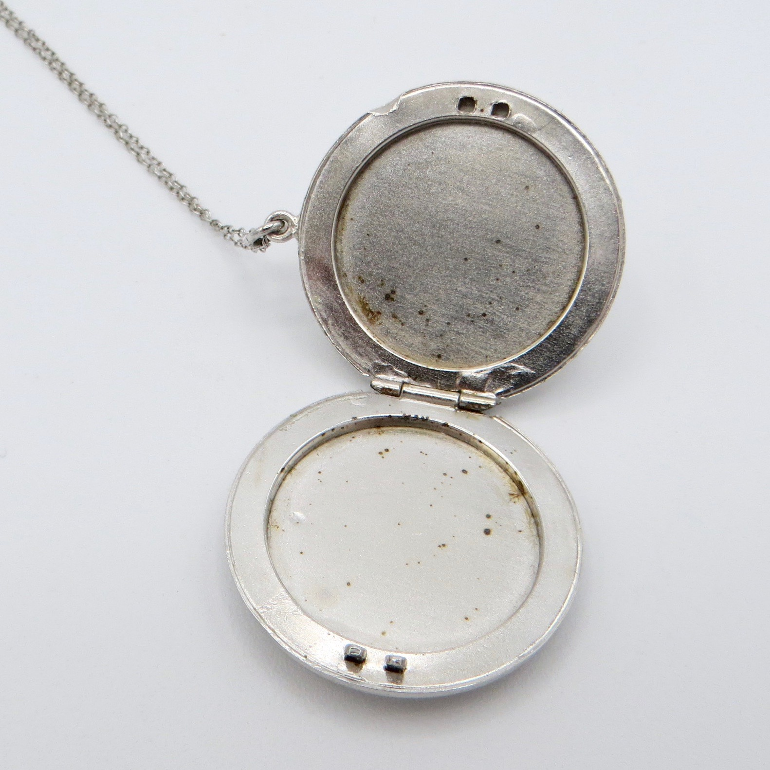 Silver Floral Locket