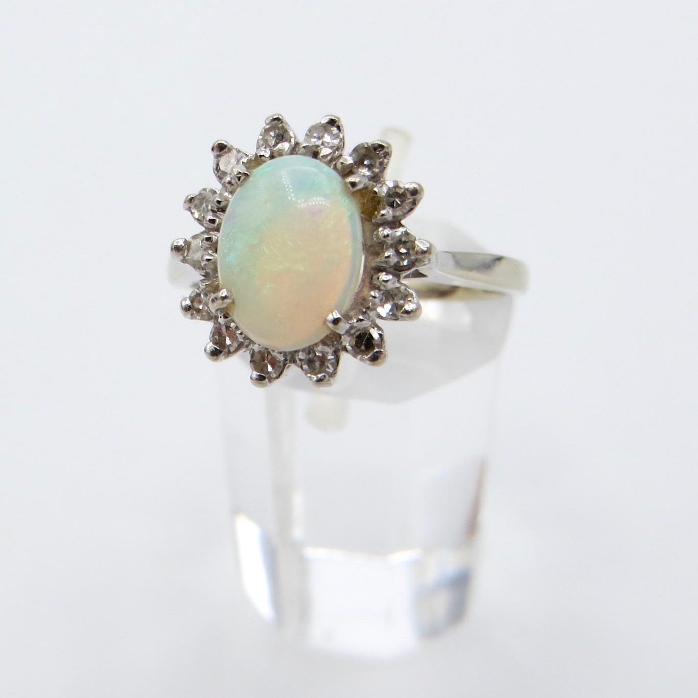 14kt Gold, Opal & Diamond Ring