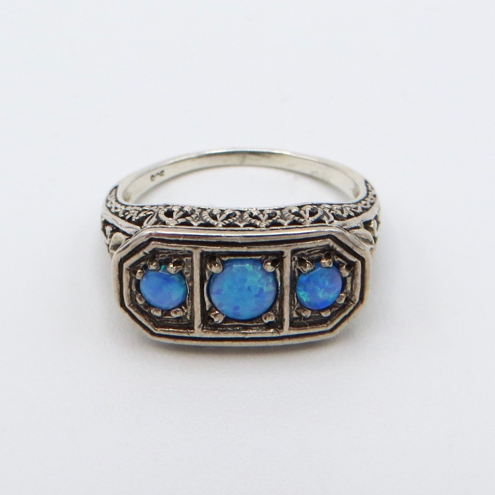 Sterling Silver & Opal Ring