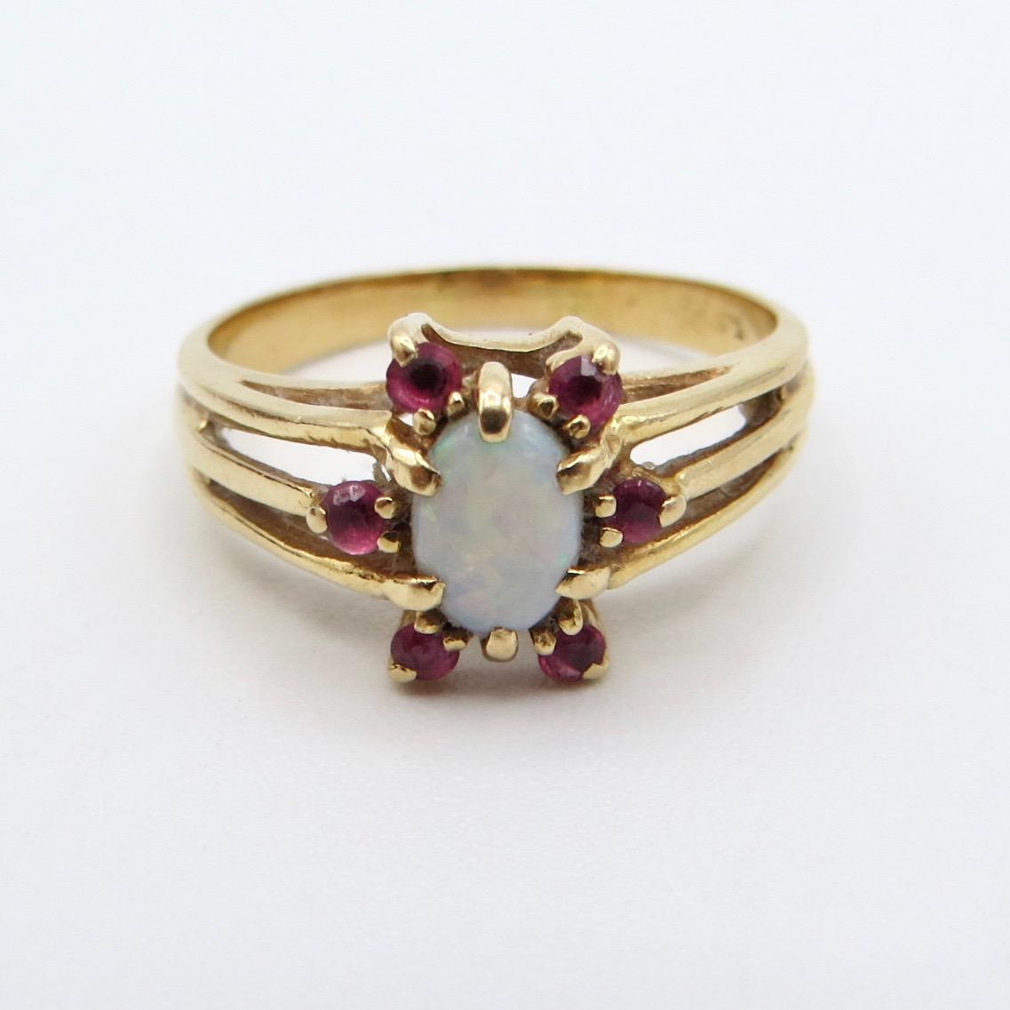 14kt Ruby & Opal Ring