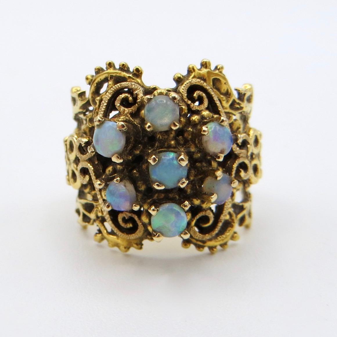Filigree Opal Ring